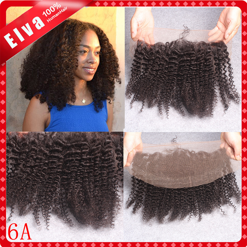6A Peruvian Lace Frontal Kinky Curly 13x4 Human Hair Free Middle 3 Way Part Lace Frontal Closure With Bleached Knot Freeshipping<br><br>Aliexpress