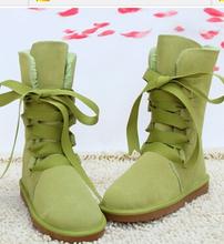 Más el tamaño 40 zapatos de invierno europeo cordón nieve Botas de mujer plana de algodón acolchado zapatos Botas femeninas(China (Mainland))