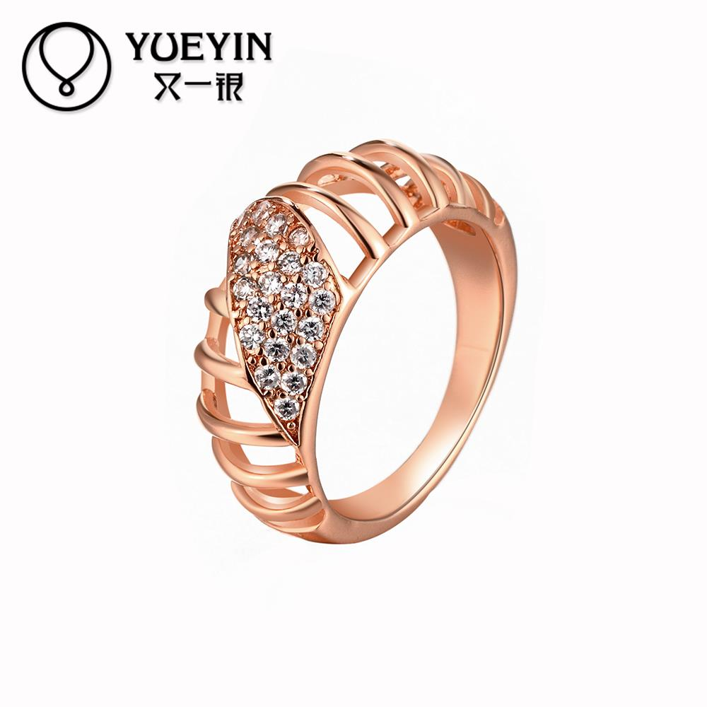 Female Crystal Rings Wedding, Korean Couple Ring For Women 18k Gold ...