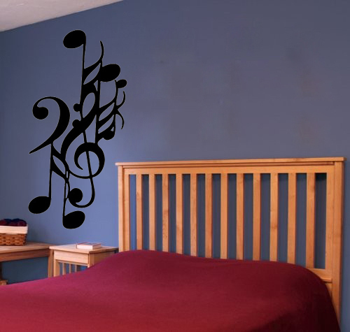 Music Note Mixture home decoration wall art decals quote living room decor stickers on the wall children room wallpaper(China (Mainland))