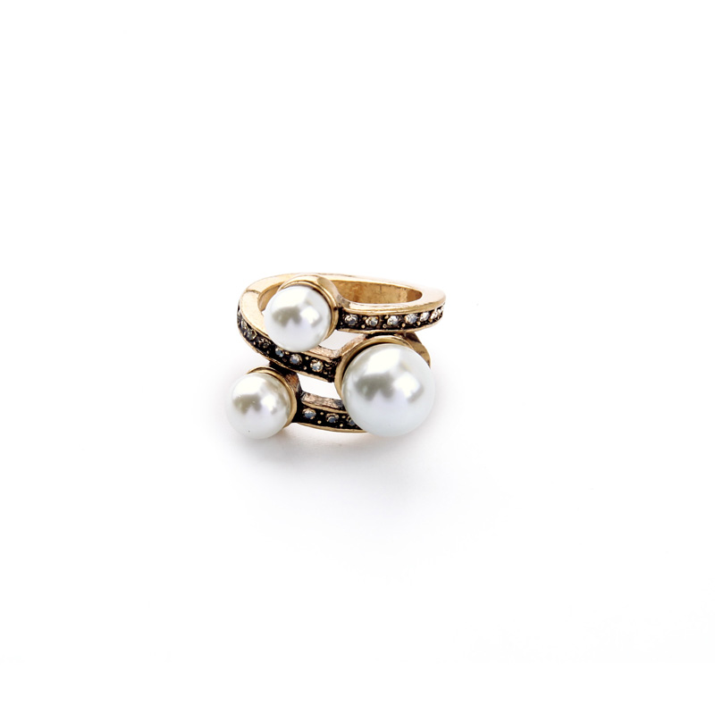 Buy vintage style simulated pearl ring Vintage style fashion rings