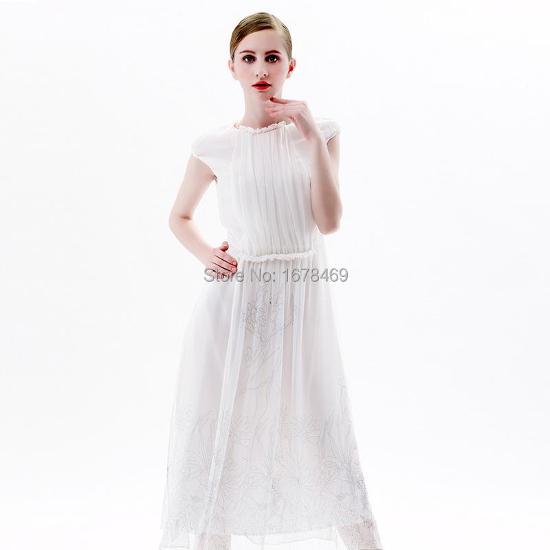 Free Shipping 2015 Women Spring Summer Dress Women Fashion O Neck Print Silk Sleeveless Goddess Dress Long DressОдежда и ак�е��уары<br><br><br>Aliexpress