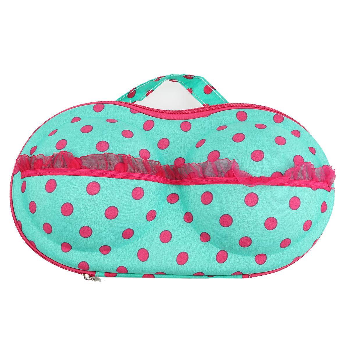 Portable Dotted Decored Case Bag Cosmetic Makeup Toiletry Wash Storage Case Bra Bag Underwear Lingerie Bra Organizer(China (Mainland))