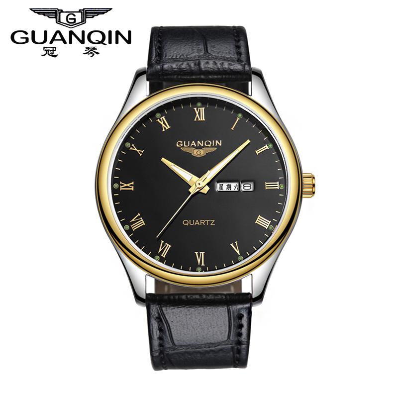 Violin male waterproof quartz watch strap double calendar luminous vintage fashion commercial male watch