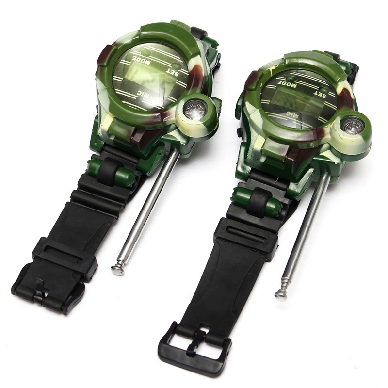 New Arrival 2PCS Children Toy Walkie Talkie Watch Child Kids Watches Outdoor Game Interphone Clock Gift(China (Mainland))