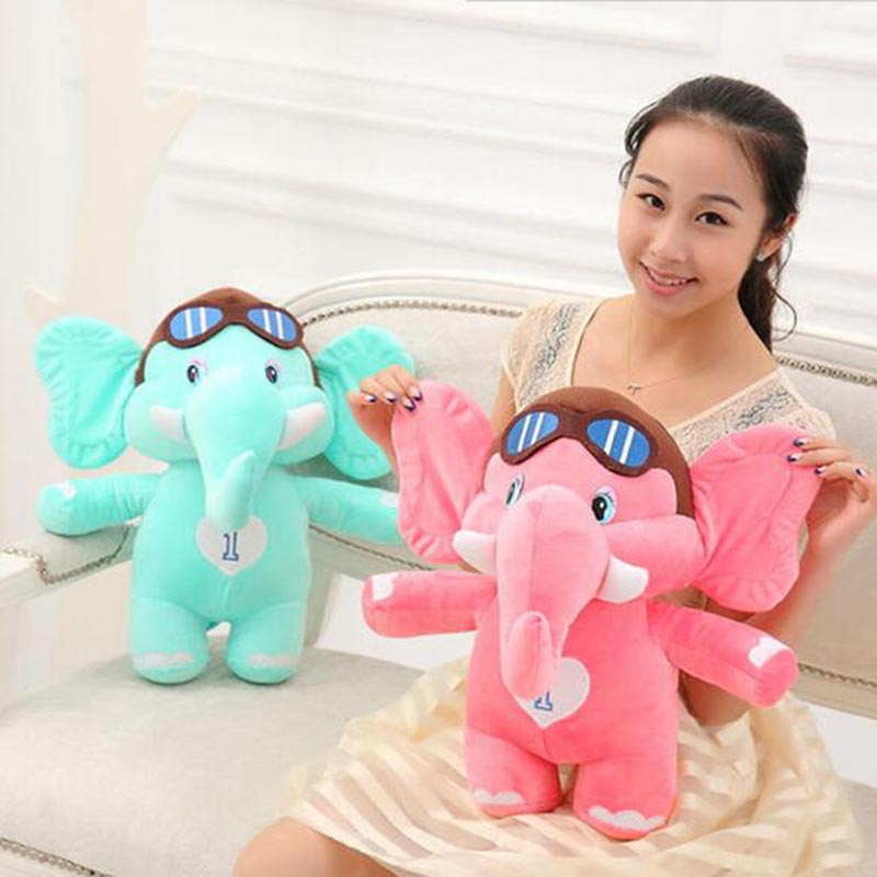 20cm Kawaii Stuffed Plush Animal Doll Elephant Blue Red ,Lovely Plush Toy Very Cute Girl Gift Soft Toy for Children High Quality(China (Mainland))