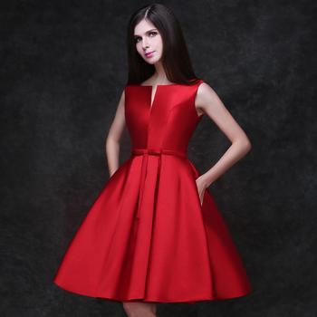 2015 new design A-line short dresses V-opening back cocktail party lace-up dress veatidos de festa Hot sale free shipping