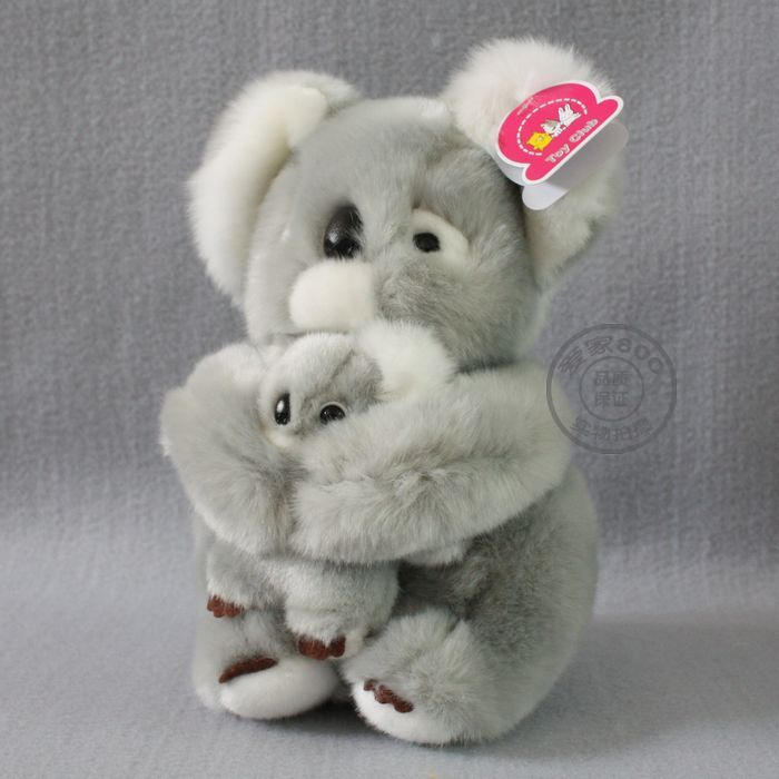 stuffed animal 40cm gray koala bear plush toy soft mother&amp;child koala doll k9649<br><br>Aliexpress