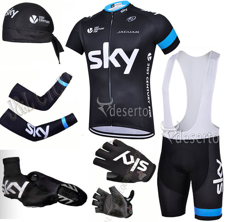 2015 Brand Team Cycling Jerseys Package/Mountian Bike Clothing+ GEL Bicycle Pants+UV Scarf +Breathable Armwarmer+Pro GEL Gloves(China (Mainland))
