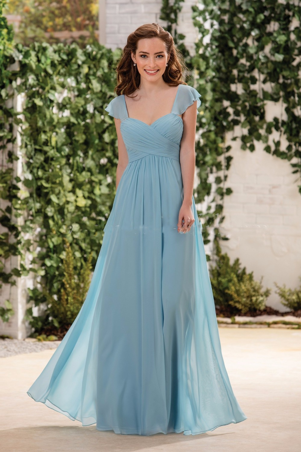 Online get cheap vintage bridesmaid dresses under 100 aliexpress sexy sweetheart chiffon cheap long blue bridesmaid dresses under 100 a line ruffles vintage blue vestido ombrellifo Image collections