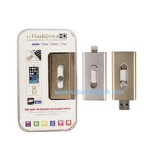 Newest iFlashDrive OTG USB flash drive for iphone 8GB 16GB 32GB 64GB ,  smart phone pen drive for iPhone & iPad   200pcs/lot(China (Mainland))