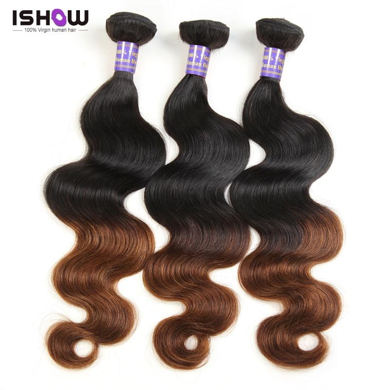 1B 4 Ombre Brazilian Hair Weave Bundles Ombre Brazilian Virgin Hair Body Wave 10A Grade Virgin Unprocessed Human Hair Extensions