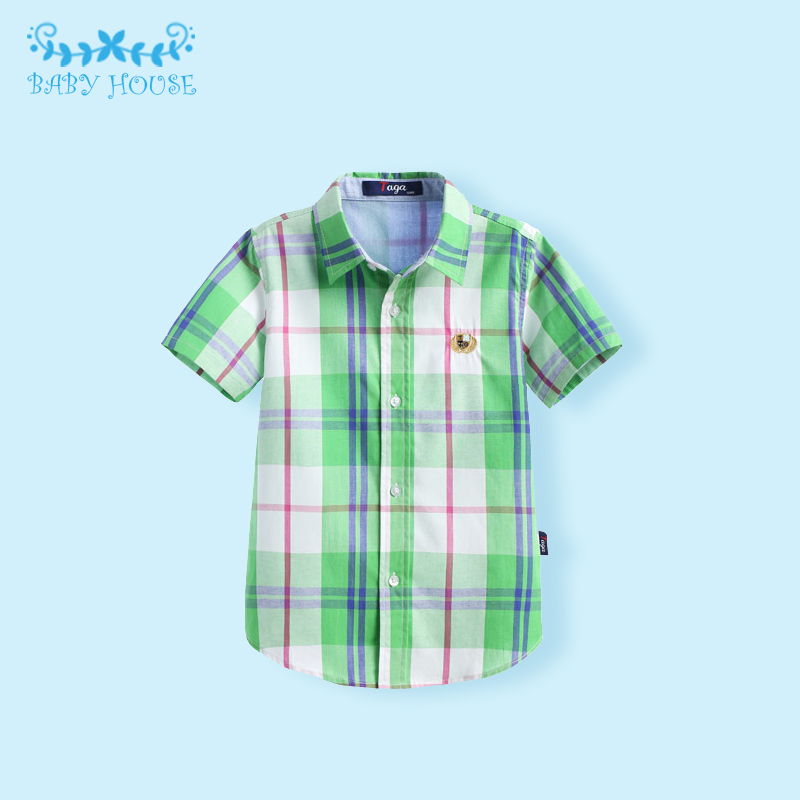 Фотография Boys Shirts Cotton Fashion Children Clothing High Quality School Uniform Shirt 2016 Brand Boy Shirts Spring Autumn Kids Clothes
