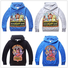 Five Nights at Freddys Boys clothes 2015 new summer -autumn Cartoon Hoodies Kids sport clothing Children's hooded sweatshirts(China (Mainland))