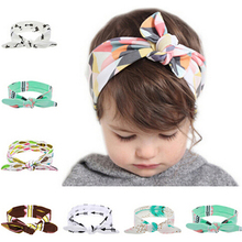 Buy 1PC Cute Flower Elastic Headband Hair Bows Knot Band Rabbit Ears Headwear Girls Hair Cotton Hats Hair Accessories KT038 for $1.04 in AliExpress store