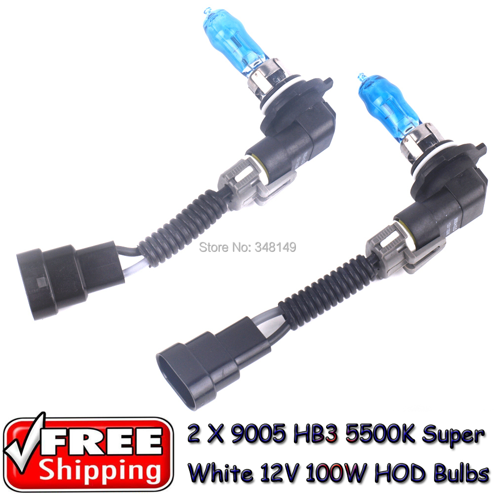 Car-styling 9005 HB3 12V 5500K 100W Super White Car HOD Halogen Bulbs Auto Lamps For VW Golf 4 5 6 7 Polo Ford Focus Hyundai(China (Mainland))