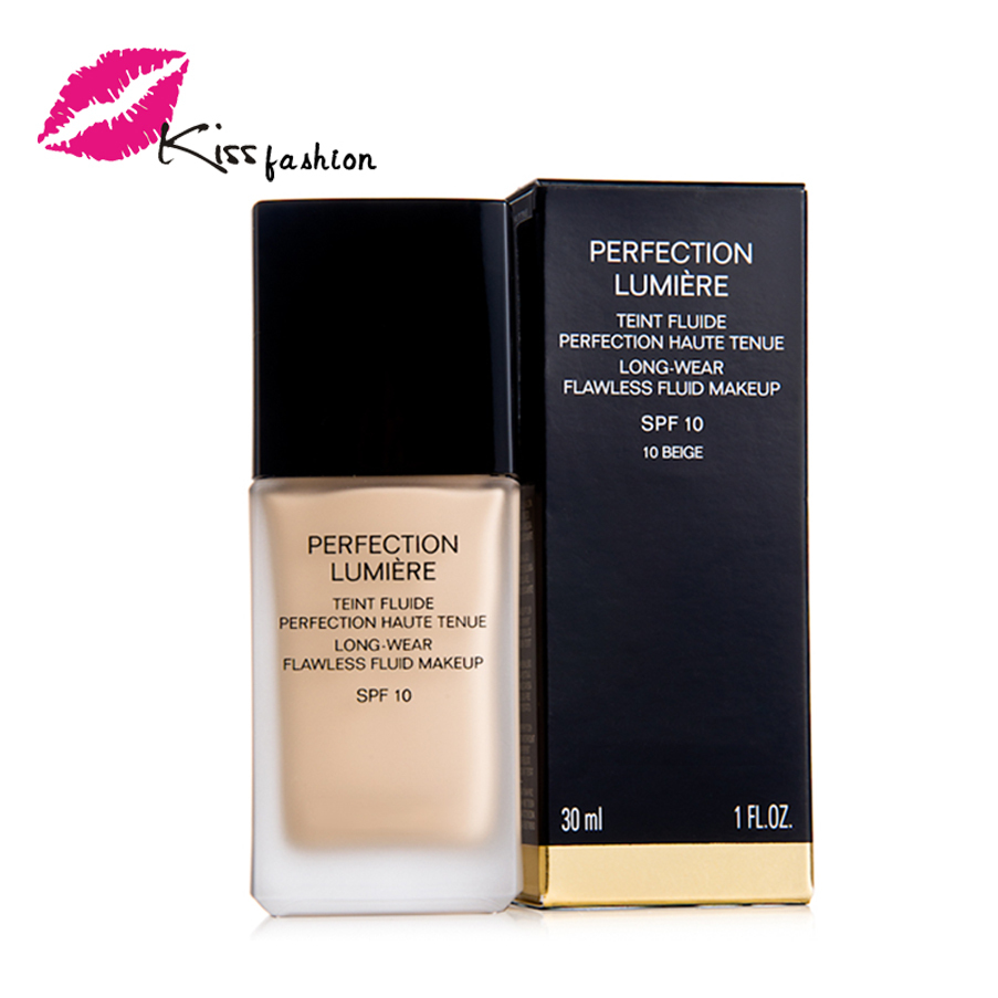 2 Color Brand Makeup Foundation Face Base Make up Perfection Lumiere Liquid Foundation 30ML Beauty Maquiagem Cosmetic(China (Mainland))