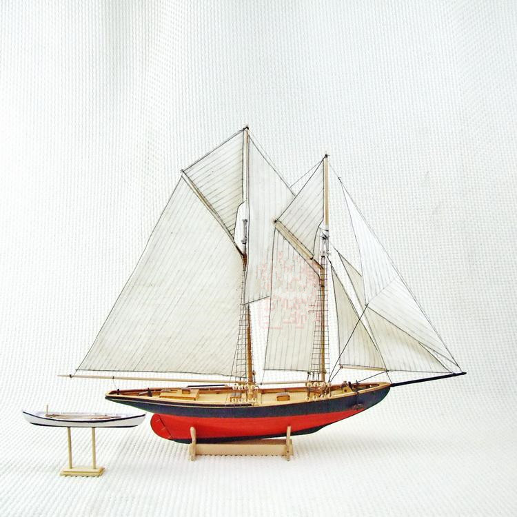 Free shipping classics sail boat model Scale 1/87 Benjamin W.Latham 1902 sail boat wooden model Puzzle toys(China (Mainland))