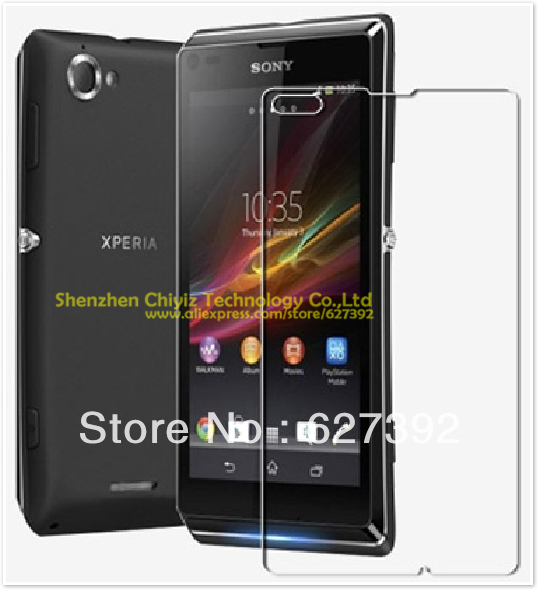 2 x High Quality Clear Glossy Screen Protector Film Guard Cover For Sony Xperia L S36h