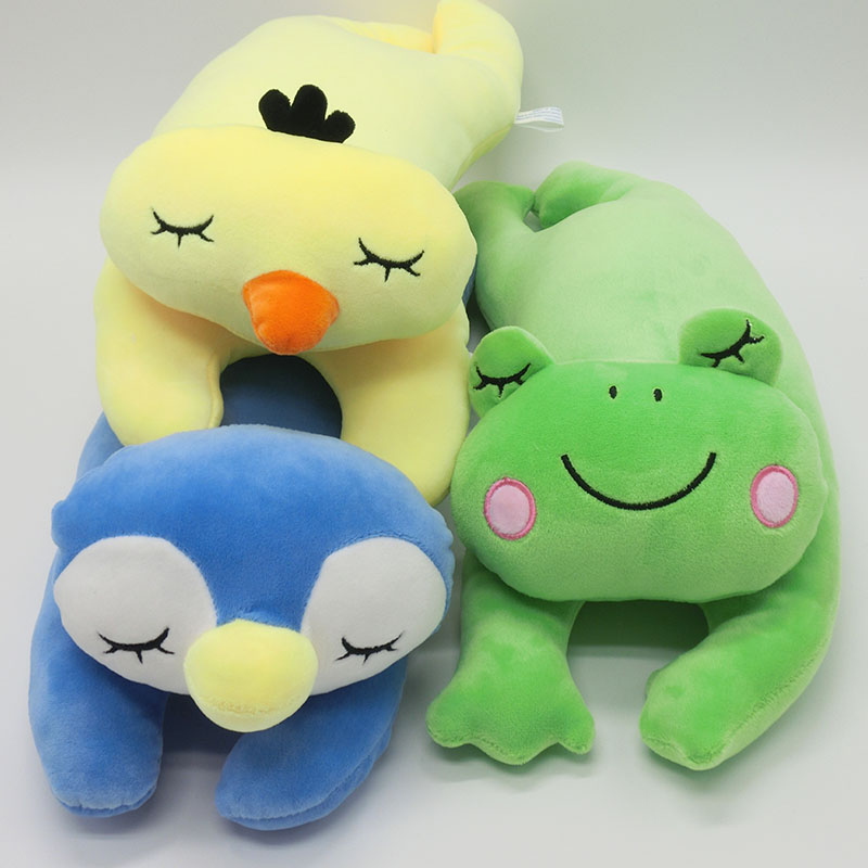 1pcs Baby doll plush toy pillow animal gift Kid toy frog chicken penguin cat plush sleeping back birthday(China (Mainland))