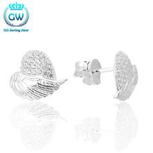 Buy Angel Wings WITH CLEAR ZIRCONIA Stud Earrings 925 Sterling Silver Earrings For Women Earings Fashion Jewelry Er1002 for $9.81 in AliExpress store