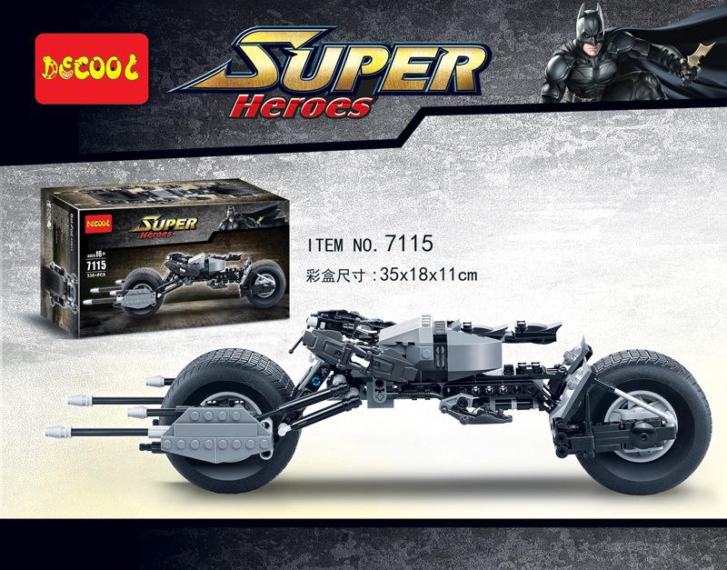 Decool 7115 DC Hero Series Batman Bat Combat Motorcycle Bricks Building Block Minifigure Toys Best Toys(China (Mainland))