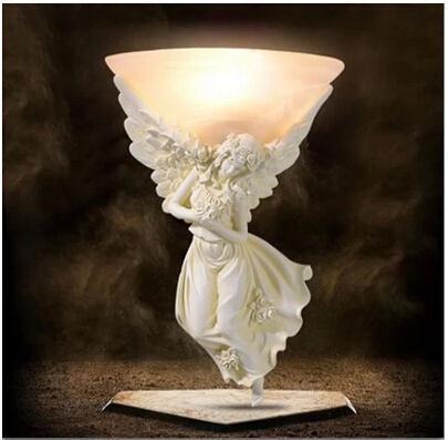 Resin Angel light Carving Athena Goddess Romance Wall Lamp WLL-7(China (Mainland))