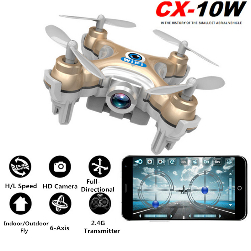 Cheerson CX-10W CX10W Mini RC Drone Quadcopter drone with camera Micro Pocket Drone 4CH 6Axis Gyro quadcopter RTF RC helicopter(China (Mainland))