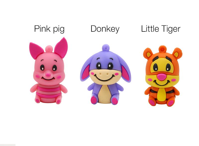 new style Hot Sale cartoon cute animal donkey usb flash drive 64g pen drive 32g pendrive 16g 8g 4g pendrive Usb2.0 free shipping(China (Mainland))