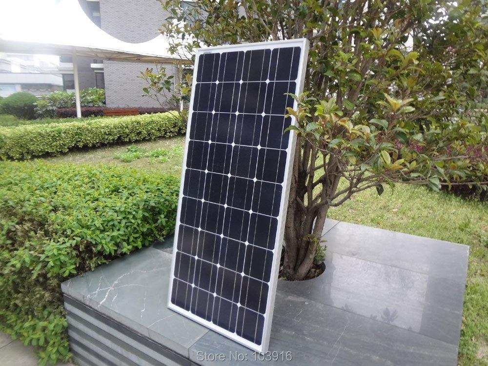 100w monocrystalline solar panel for 12V system, photovoltaic panel, solar module(China (Mainland))
