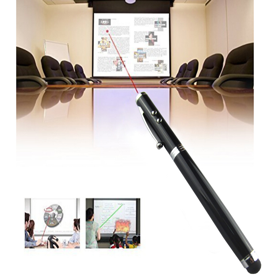 1000pcs/lot 4 in 1 Soft rubber tip Laser Pointer LED Torch Touch Screen Stylus Ball Pen for ipad for iPhone 2016 Hot Selling(China (Mainland))
