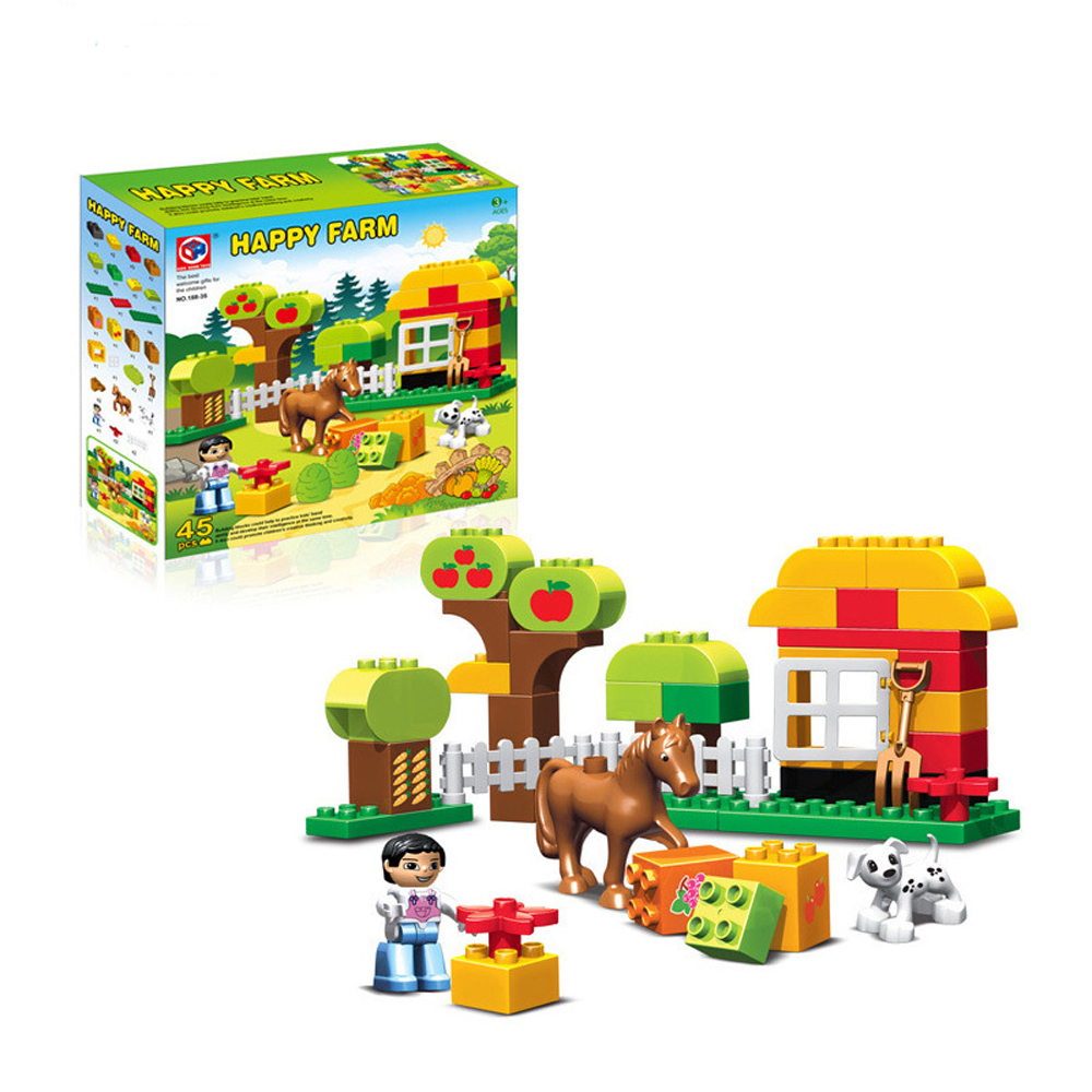 Compare prices on animal compatible with lego duplo for Modele maison lego duplo