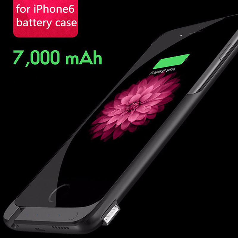 For Apple iphone 6 s Power Bank Battery Case 7000Mah Ultrathin External Portable Battery Backup Charger Case For Apple iphone6(China (Mainland))