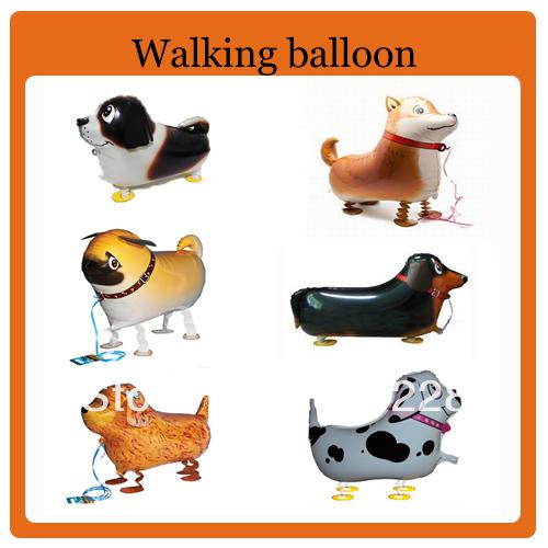 Hot selling! cute dog walking animal balloon,helium balloons,80pcs/lot, free shipping(China (Mainland))