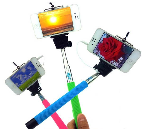 z07 5s extendable selfie stick monopod tripod camera handheld wired cable for iphone6 5s samsung. Black Bedroom Furniture Sets. Home Design Ideas