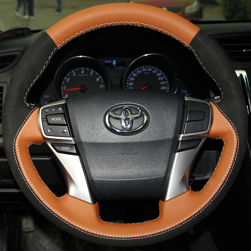case for toyota mark 2010 2013 car steering wheel cover car styling steering cover genuine. Black Bedroom Furniture Sets. Home Design Ideas