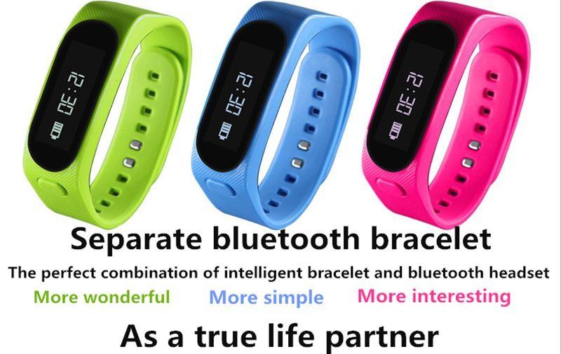 Smart Wristbands TalkBand Bluetooth Headset Earphone Smart Bracelet Waterproof Fitness Tracker for iOS Android phone