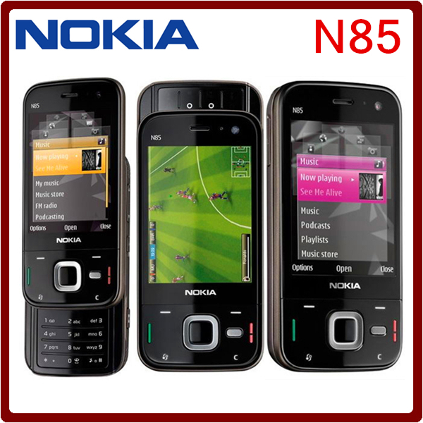 Original NOKIA N85 mobile phone Quad-band GPS 2.6 inch Amoled Screen FM radio 5.0MP Pix camera Free shipping(China (Mainland))