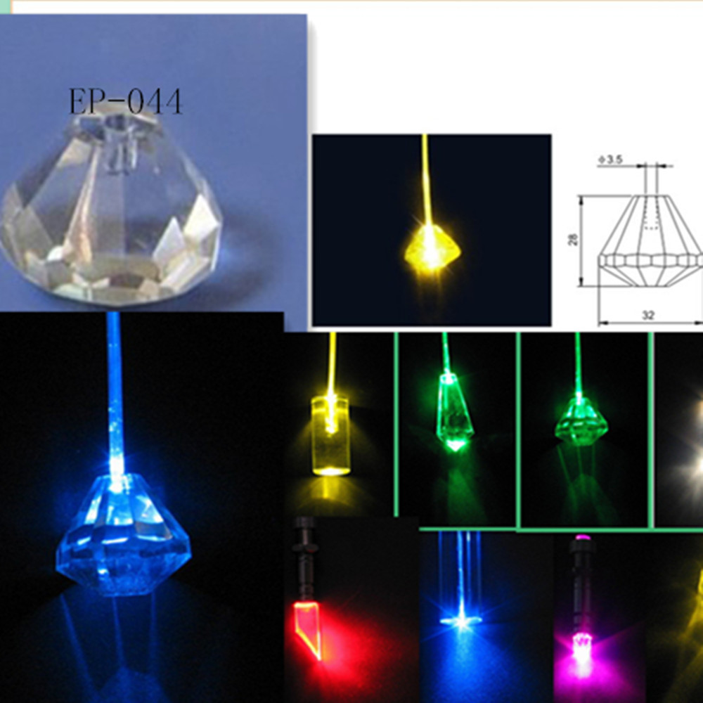 High quality Crystal fiber optic end fitting for Chandelier(China (Mainland))