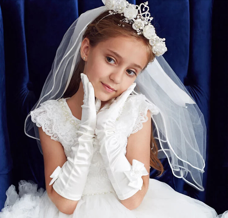 Sweetly bridal flower girl lace veil pearl flower hairband children wedding hair accessories little bridesmaid headwearОдежда и ак�е��уары<br><br><br>Aliexpress