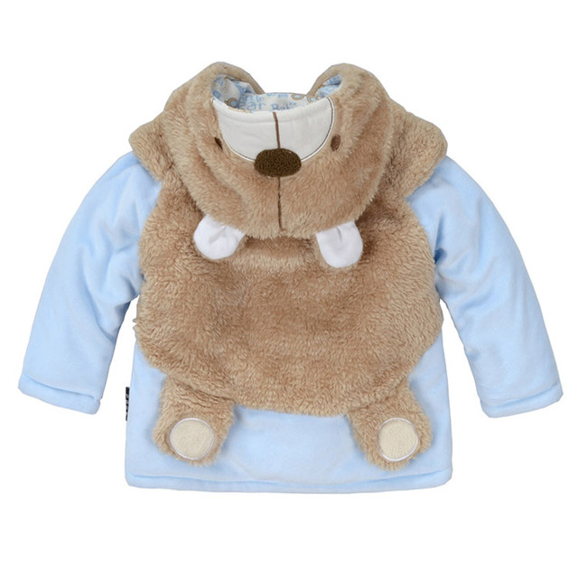Children's clothing wadded jacket outerwear autumn and winter cotton-padded jacket baby clothes baby child male female bear