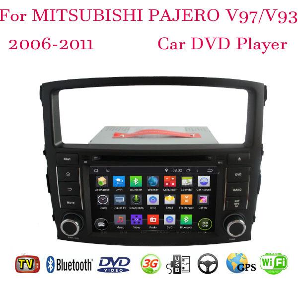 1024*600 Android 4.4.4 Fit Mitsubishi PAJERO V97 V93 2006 2007 2008 2009 2010 2011 Car DVD Player GPS TV 3G Radio WIFI Bluetooth(China (Mainland))