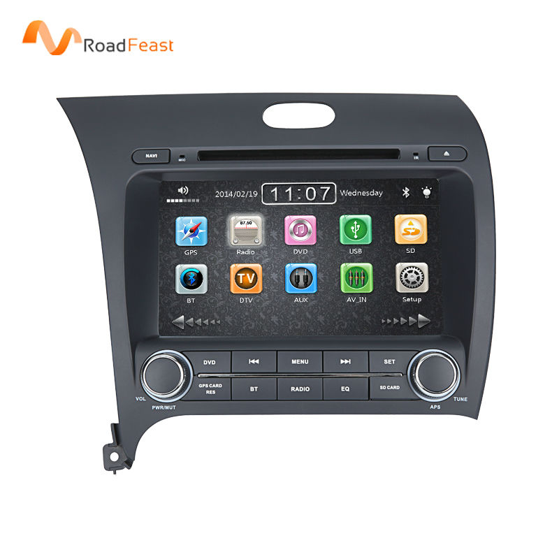 2 Din 8Inch Car DVD Player Kia Cerato Pro K3 Forte 2013 2014 3G GPS Navigation Bluetooth IPOD ATV Radio Free Maps - Roadfeast Parts store