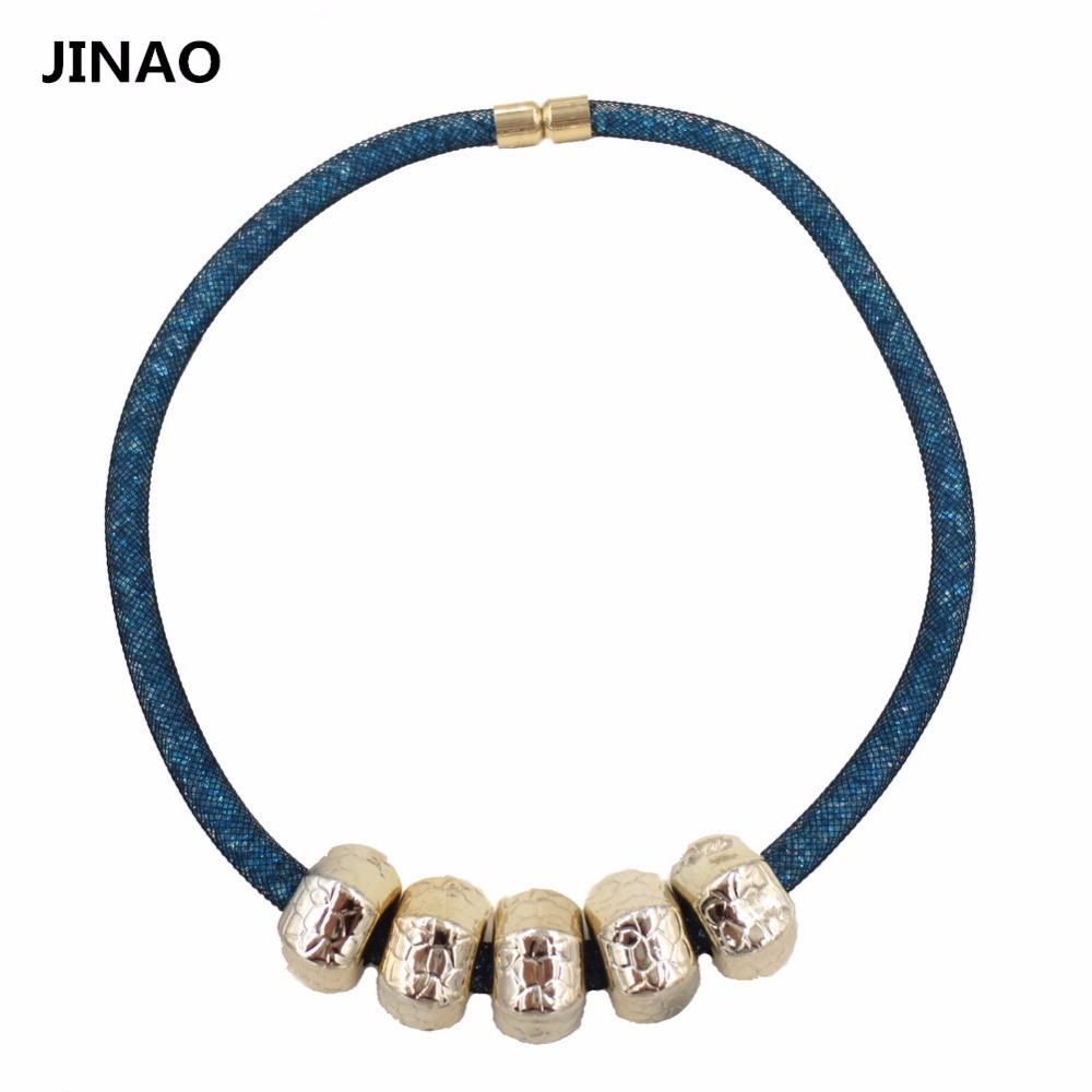 Jin'ao 2015 Limited Accessories Colar Jewelry Newest Necklaces Mesh Chain Inside Women's Chokers Necklace Pendant Magnetic Wrap(China (Mainland))