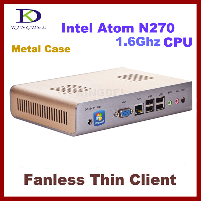 New Thin Client Computer, Mini PC with Intel Atom N270 1.60Ghz CPU, 1GB RAM, 1 COM, 32 Bit, hotel PC