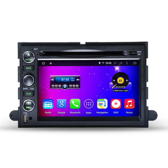 HD 1024*600 Quad Core Auto DVD GPS Android 4.4 Car PC For Ford F150 Escape Edge Mustang Fusion Explorer Expedition + CANBUS(China (Mainland))