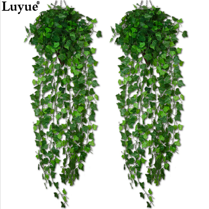 Luyue Artificial Ivy Leaf Garland Plants Vine Fake Foliage Flowers Home decor 7.5 feet(China (Mainland))