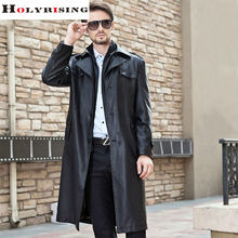 Trench Coat Men Long Black Classic Turn Collar Autumn Winter Pea Coats Casual Overcoat Single breasted Pu Trenchs Jackets M-4XL(China (Mainland))