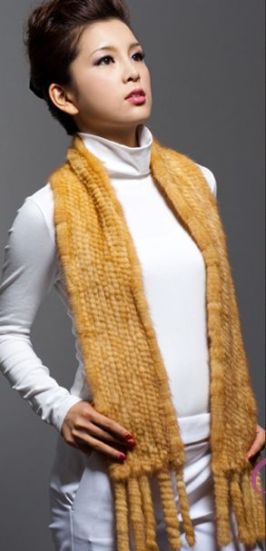 real fur mink knitting scarf Fur collar mink fur men and women general warm scarf on sale(China (Mainland))