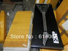 free shipping Wholesale price ESP Guitar Custom Shop Alexi Laiho Black Diamond Pearl V Electric Guitar with Hard case(China (Mainland))